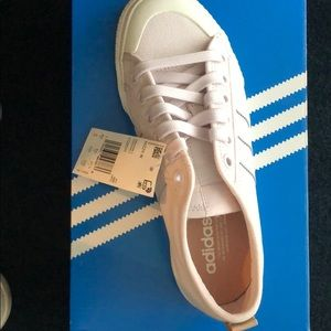 Adidas light lavender colored tennis shoes